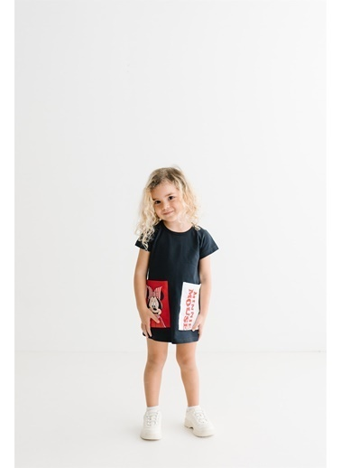 Minnie Mouse Lisanslı Çocuk Elbise 17371 Lacivert